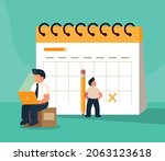 people planning and...   Shutterstock .eps vector #2063123618