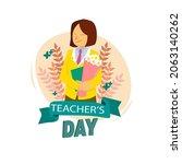 happy international teacher's...   Shutterstock .eps vector #2063140262