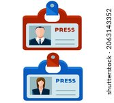 woman and man id cards icon...   Shutterstock .eps vector #2063143352