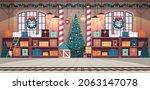 no people santa claus factory...   Shutterstock .eps vector #2063147078