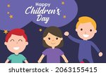 hand drawn flat world children...   Shutterstock .eps vector #2063155415