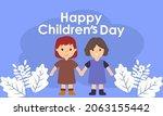 hand drawn flat world children...   Shutterstock .eps vector #2063155442