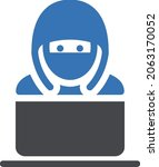 hacking vector glyph colour icon   Shutterstock .eps vector #2063170052