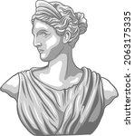 greek statue illustration with...   Shutterstock .eps vector #2063175335