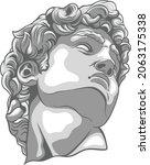 greek statue illustration with...   Shutterstock .eps vector #2063175338