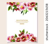 invitation greeting card with... | Shutterstock .eps vector #2063215658