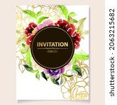 invitation greeting card with... | Shutterstock .eps vector #2063215682