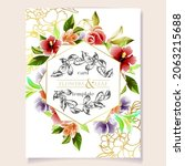 invitation greeting card with... | Shutterstock .eps vector #2063215688