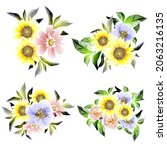 flowers set. collection of... | Shutterstock .eps vector #2063216135