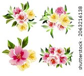 flowers set. collection of... | Shutterstock .eps vector #2063216138
