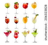 set of alcoholic cocktails... | Shutterstock . vector #206323828