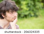 a young male model is thinking | Shutterstock . vector #206324335