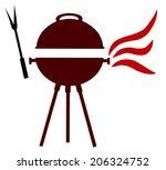 grill bbq illustration | Shutterstock . vector #206324752