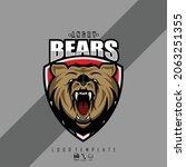 head bears illustration ready... | Shutterstock .eps vector #2063251355