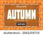 autumn gift promotion coupon... | Shutterstock .eps vector #2063254715