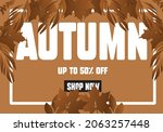 autumn gift promotion coupon... | Shutterstock .eps vector #2063257448