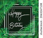 design happy birthday with... | Shutterstock .eps vector #2063267138