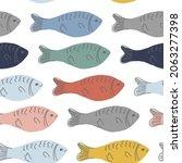vector cute seamless pattern... | Shutterstock .eps vector #2063277398