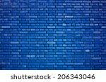 Dazzling Blue Brick Wall...