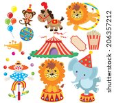 circus vector illustration | Shutterstock .eps vector #206357212