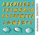 comics fonts style alphabet... | Shutterstock .eps vector #206359075