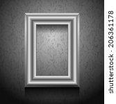 silver picture frame on vintage ... | Shutterstock . vector #206361178