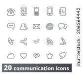 communication and media icons ... | Shutterstock .eps vector #206364442