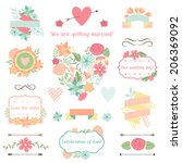 wedding collection of... | Shutterstock .eps vector #206369092