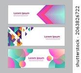 abstract banner design web... | Shutterstock .eps vector #2063826722