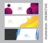 modern blue red yellow green... | Shutterstock .eps vector #2063827142