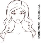 illustration of female... | Shutterstock . vector #206383066