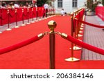 way to success on the red... | Shutterstock . vector #206384146
