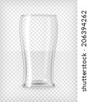 Beer glass. Transparent vector illustration.