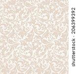 floral pattern. wallpaper... | Shutterstock . vector #206399392