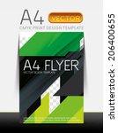 abstract modern flyer brochure... | Shutterstock .eps vector #206400655