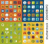 set of medical flat icons | Shutterstock . vector #206408092