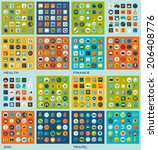 set of flat icons  health ... | Shutterstock . vector #206408776