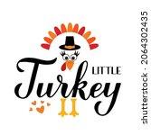 little turkey calligraphy hand... | Shutterstock .eps vector #2064302435