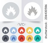 fire flame sign icon. heat... | Shutterstock .eps vector #206430586