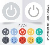 power sign icon. switch on... | Shutterstock .eps vector #206430628