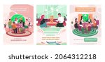 set of illustrations about... | Shutterstock .eps vector #2064312218
