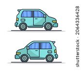 car illustrated on a white... | Shutterstock .eps vector #2064336428