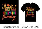 thankful for my beautiful... | Shutterstock .eps vector #2064341228