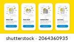 vector set of phone survey ...