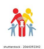 icon for family podcast  vector ... | Shutterstock .eps vector #2064392342