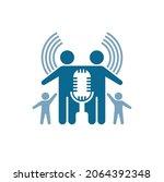 icon for family podcast  vector ... | Shutterstock .eps vector #2064392348