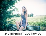 a beautiful young woman ... | Shutterstock . vector #206439406
