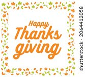 happy thanksgiving. holiday... | Shutterstock .eps vector #2064412058