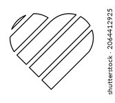 love vector with stripes for... | Shutterstock .eps vector #2064412925
