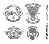 vector illustration motorcycle... | Shutterstock .eps vector #206442232